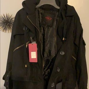 NWT Yoki black coat, Size XL